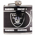 Oakland Raiders 6oz Metallic Wrap Flask