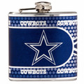 Dallas Cowboys 6oz Metallic Wrap Flask