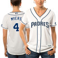 Women's San Diego Padres Wil Myers Majestic White Alternate Cool Base Player Jersey