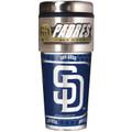San Diego Padres 16oz Travel Tumbler with Metallic Wrap