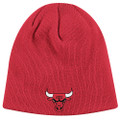 Chicago Bulls Knit Beanie Red