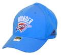 Oklahoma City Thunder Basic Logo Blue Flex Fit Front