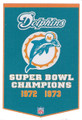 Miami Dolphins Dynasty Pennant