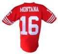 Joe Montana Mitchell & Ness Throwback Home Jersey Stitched Back
