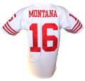 Joe Montana Mitchell & Ness Throwback Road Jersey Stitched Back