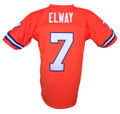 Denver Broncos John Elway Mitchell & Ness Orange Throwback Jersey Back