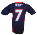 Denver Broncos John Elway Mitchell & Ness Navy Throwback Jersey Back