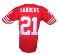 San Francisco 49ers Deon Sanders Mitchell & Ness Throwback Jersey Back