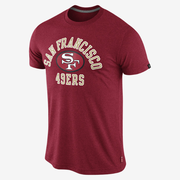 San francisco 49ers retro t shirt by nike sports fever for San francisco custom shirts