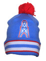 Houston Oilers Jersey stripe Beanie by Mitchell & Ness Front