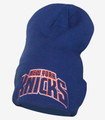 New York Knicks Cuffed Draft Beanie Blue Front
