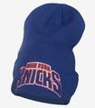 New York Knicks Cuffed Draft Beanie Blue Front