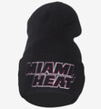 Miami Heat Cuffed Draft Beanie Black Front