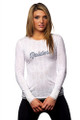 All Sport Couture Oakland Raiders Hail Mary Lace L/S Shirt