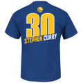 Golden State Warriors Stephen Curry State Logo Player T-Shirt Back