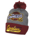 NBA Cleveland Cavaliers Tailsweep Beanie with Pom and Logo from Mitchell & Ness