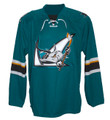 AHL San Jose Barracuda CCM Men's Premier Road Jersey - Teal