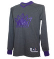 Men's Sacramento Kings adidas Christmas Day Long Sleeve Shooter T-Shirt - Gray