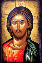Icon of Christ the Pantocrator - 20th c. (11S07)