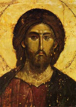 Icon of Christ the Pantocrator (detail) - 16th c. Hilandar Monastery - (11S06)