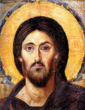 Icon of Christ the Pantocrator (detail) - 6th c. Mt. Sinai - (11S02)