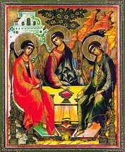 Icon of the Hospitality of Abraham (Holy Trinity) - 20th c. - (11O34)