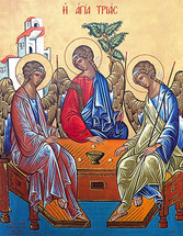 Icon of the Hospitality of Abraham (Holy Trinity) - 20th c. (11O33)