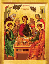 Icon of the Hospitality of Abraham (Holy Trinity)- 20th c. - (11O32)
