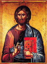 Icon of Christ (from Deisis) - 16th c. Dionysiou Monastery - (11S13)