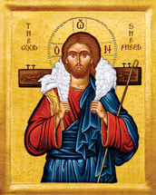 Icon of The Good Shepherd - 20th c. - (11S21)