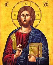 Pantocrator Icon- 20th c. St. Anthony's Monastery - (11S18)