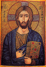 Icon of Christ the Pantocrator (mosaic) - 12th c. Mt. Sinai - (11S17)