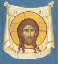 Icon of Made Without Hands (Holy Napkin) - 20th c. Greek - (11R09)