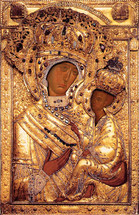"Icon of the Theotokos ""Tikhvinskaya"" - (12g62)"