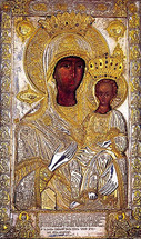 Icon of the Odigitria - 15th c. Xenophontos Monastery - (12G50)