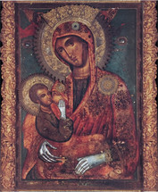 "Icon of the Theotokos the ""Milk-Giver"", Mt. Athos - (12M10)"