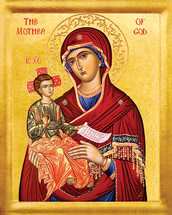 Theotokos with Child - 20th c. - (12G59)