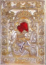 Icon of the Axion Esti (w/silver cover) - 12th c. Karyes Mt. Athos - (12G34)