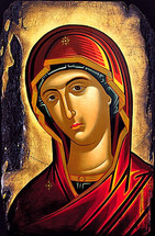"Icon of The Theotokos ""Hope of Eternal Good Things"" - 20th c. (12G28)"