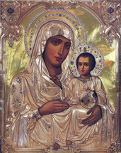 Icon of the Theotokos of Jerusalem - (12G61)