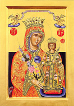 "Icon of The Theotokos ""Rejoice Unwedded Bride"" - 20th c. (12G32)"