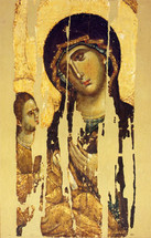 Icon of the Theotokos of Hilandar - 14th c. Mount Athos - (12G16)