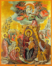 Icon of the Burning Bush - 16th c. Michael Damaskinos - (12I01)
