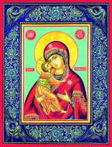 Icon of the Angelic Mother - 20th c. Tikhomirov - (12G11)