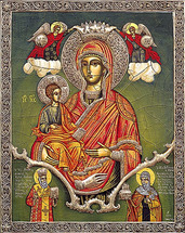 Icon of the Theotokos of the Three Hands - 20th c. St. Anthony's Monastery - (12G13)