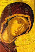 Icon of the Mother of Our Life - 16th c. Cretan - (12G26)