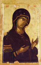 Icon of the Panagia (from Deisis) - 14th c. Hilandar Monastery - (12G19)