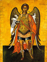 Icon of the Archangel Michael - 16th c. Cretan - (1MI11)