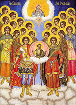 Icon of the Synaxis of the Archangels - 20th c. St. Anthony's Monastery - (1AN26)
