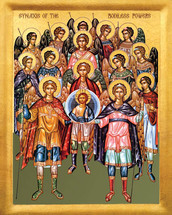 Icon of the Synaxis of the Bodiless Powers - 20th c. - (1AN25)